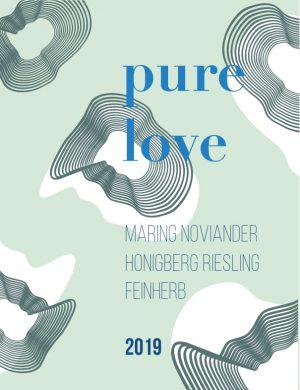 """Das Etikett des karmakitchen Riesling-Weines """"Pure Love"""""""